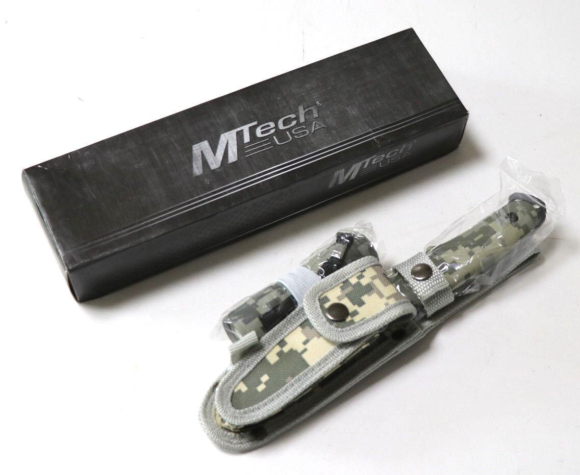 MTech USA Outdoormesser, Schwarze Klinge, Taschenmesser Taschenmesser Taschenmesser Set + Taschenlampe Etui 6ea5ed