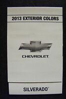 2013 Chevrolet Silverado Dealership Exterior Color Chart