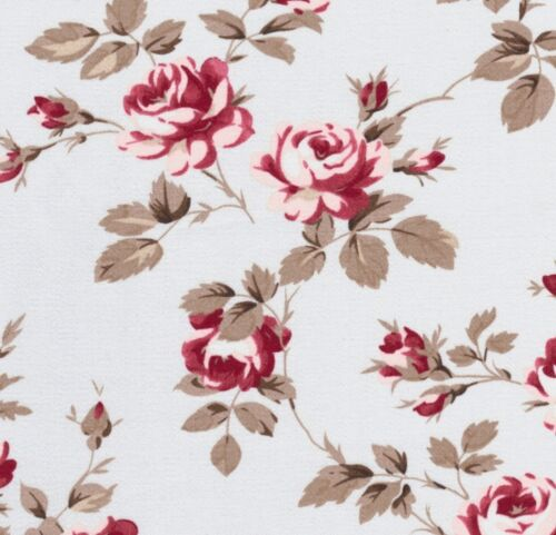 Tanya Whelan Petal Scattered Roses Blue Home Décor Cotton Fabric Large FQ V