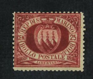 CKStamps-Italy-Stamps-Collection-San-Marino-Scott-13-Mint-H-OG