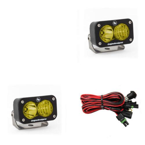 Baja Designs ATV S2 Sport Pair Driving Combo LED Lights Amber