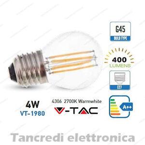 Lampadina-led-V-TAC-4W-40W-E27-bianco-caldo-2700K-VT-1980-G45-filamento-globo