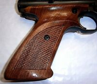 Checkered Walnut Wood Grips Lacquered Ambi Covers Safety Crosman 2240 1377 Etc.