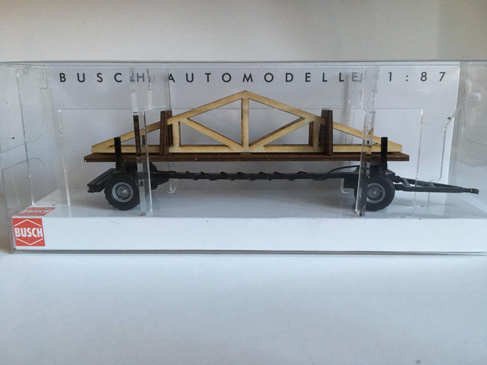Busch 59944 Remorque avec Dachstuhlelementen, H0 Modèle 1 87