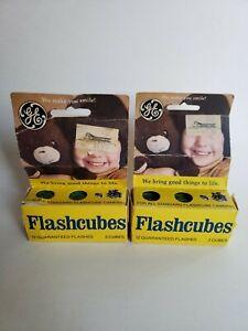 Vintage2X GE Flashcubes Original Box Set Of 6 Cubes 24 Flashes New Old Stock
