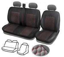 Schwarz-rote Sitzbezüge für VW VOLKSWAGEN CRAFTER Autositzbezug SET 1+2
