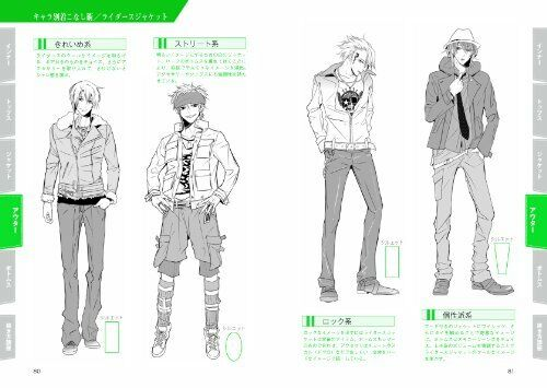 """/""""NEW/"""" Mens Character Clothing Reference Book Japan How to Draw Manga Material"""