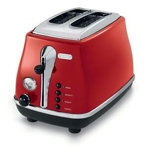 DeLonghi-2-Slice-Toaster-CTO2003R-Icona-Collection-Red