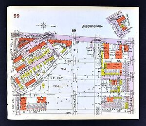 1929 Brooklyn Map Flatbush Nostrand Avenue Germania Glenwood New
