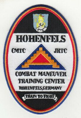 """Hohenfels Training Center embroidered Oval patch 4/"""" x 4.5/"""""""