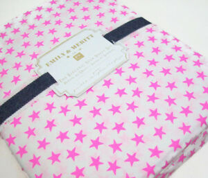 Pottery-Barn-Teen-Multi-Colors-Emily-Meritt-Electric-Star-Queen-Sheet-Set-New