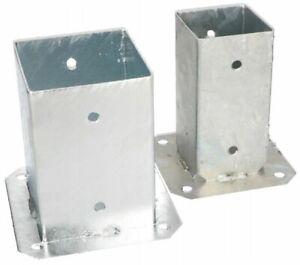 Unifix-A-Verre-Galvanise-Pour-Pilier-Carre-91x91-Mm-holz-Technic