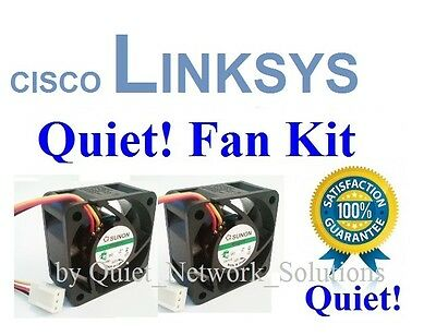 Lot 2x Fans Low Noise Best for Home Network Quiet Cisco Linksys SRW2024 Fan Kit