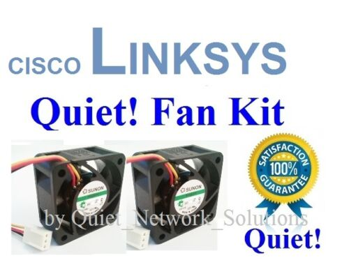 Lot 2x Quiet fans for Cisco Linksys SRW248G4 Low Noise Best for Home Networking