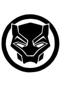 black panther logo vinyl decal helmet sticker free shipping window rh ebay com black panther lego marvel black panther lego marvel super heroes 2