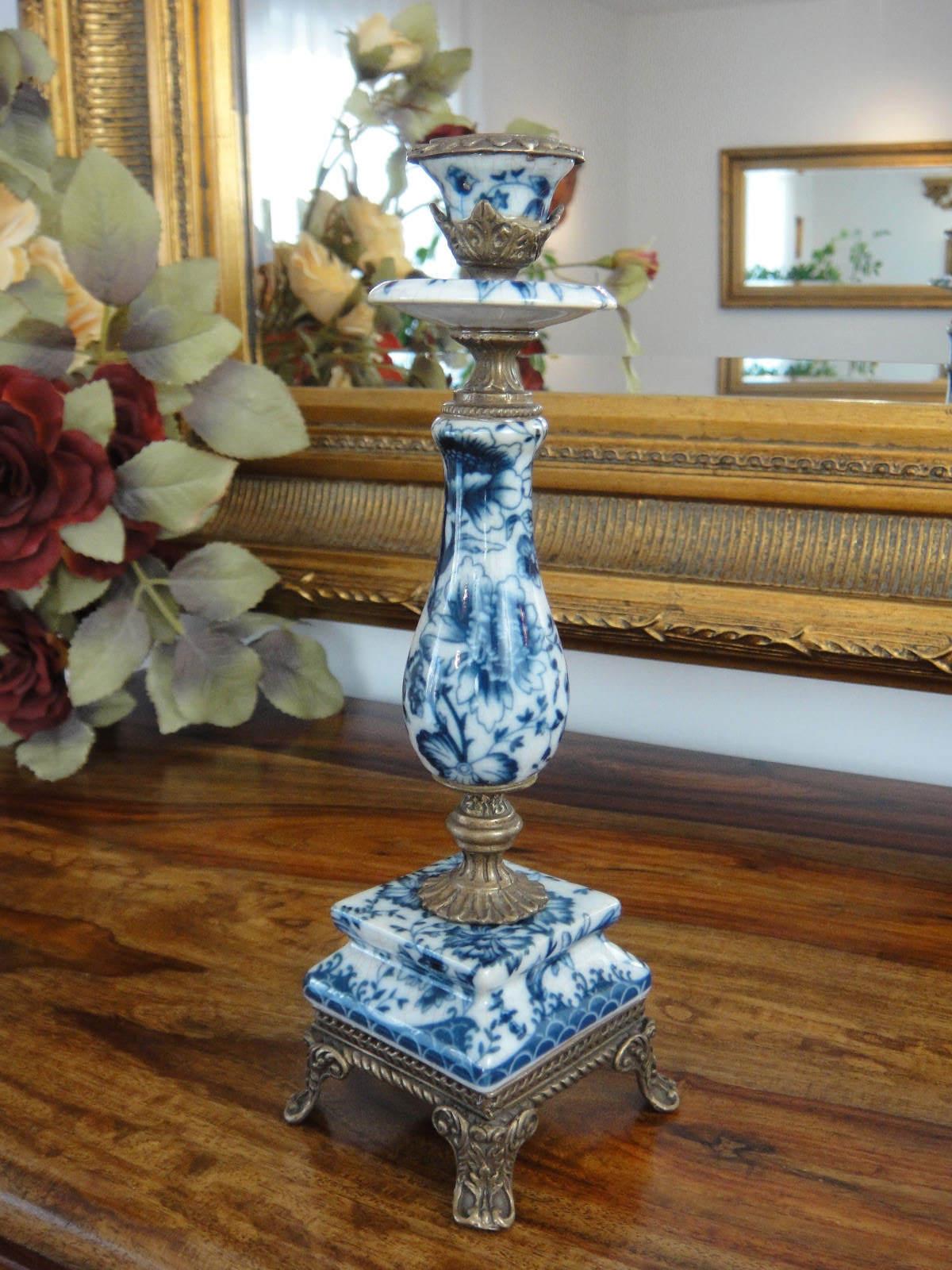 Lujo candiles porcelana bronce candeleros candelabro Antik Edel nuevo