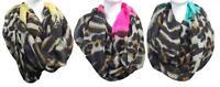 Womens Glitz Scarf Collection Fashion Infinity Chevron Scarves Leopard