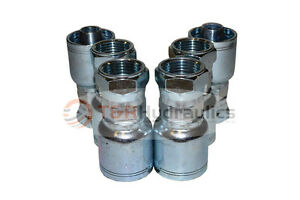 Bite The Wire Series 4 Fittings 3//8 Hose X 5//8 Female JIC Crimp 1 Piece Fitting,