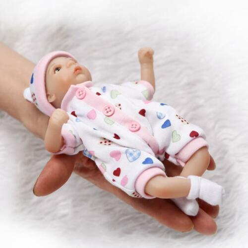 "8/"" super little mini baby doll soft gentle touch silicone vinyl handmade"