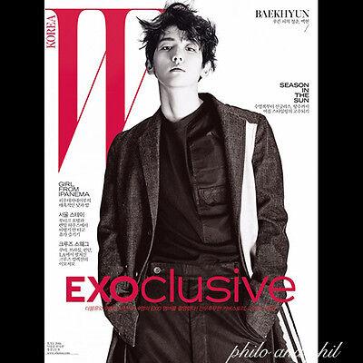 EXOCLUSIVE EXO Baekhyun Cover: W Korea Magazine July 2016 Bae khyun