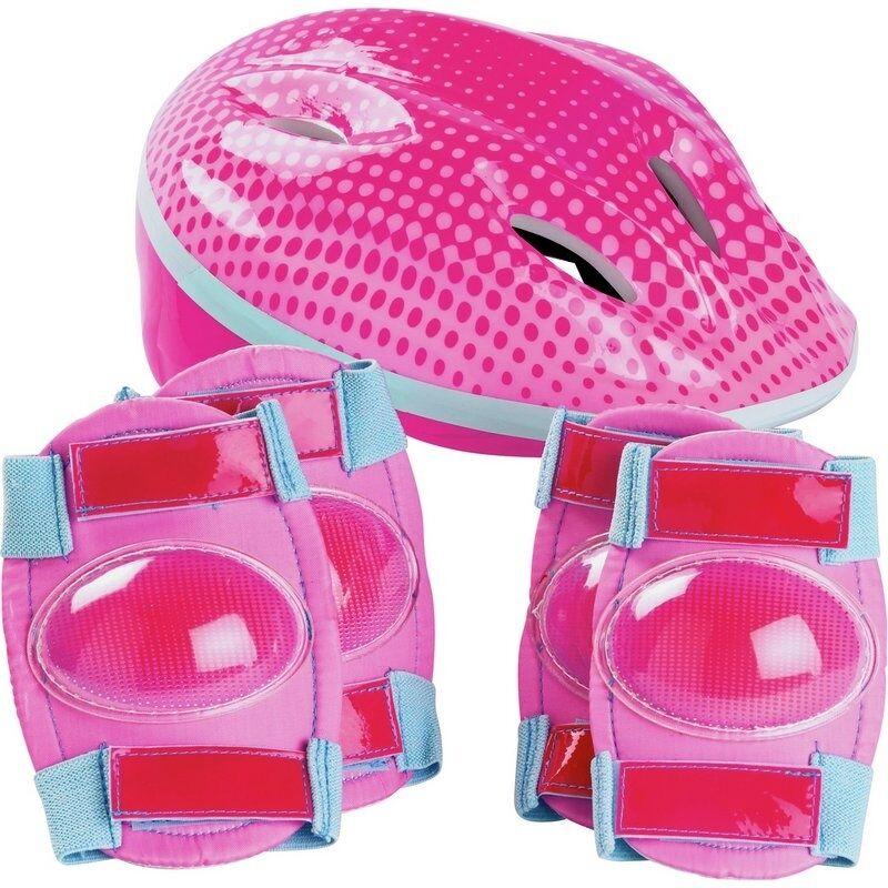 Bike Helmet and Pad Set - Girl's