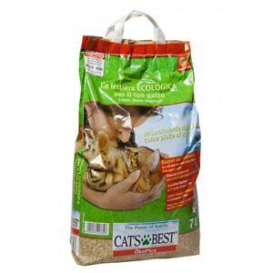 Cats Best Okoplus 7lt Sabbia Naturale Gatto Per Lettiera Toilette