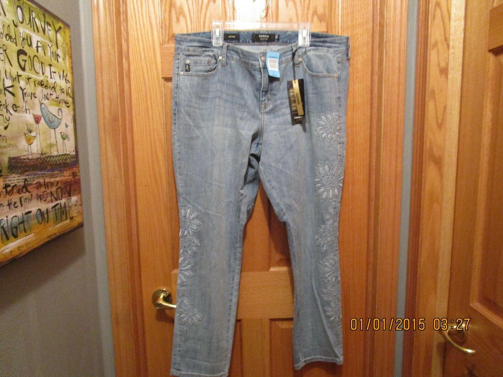 Torrid Premium Embroidered Boyfriend Jeans 20W NWT