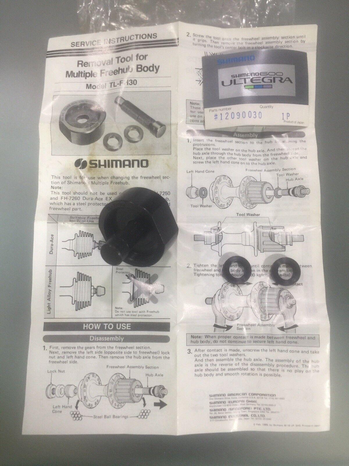 Vintage Shimano TL-FH 30 Freehub  Body Removal Tool BC 32 34.6 NOS  fashion brands