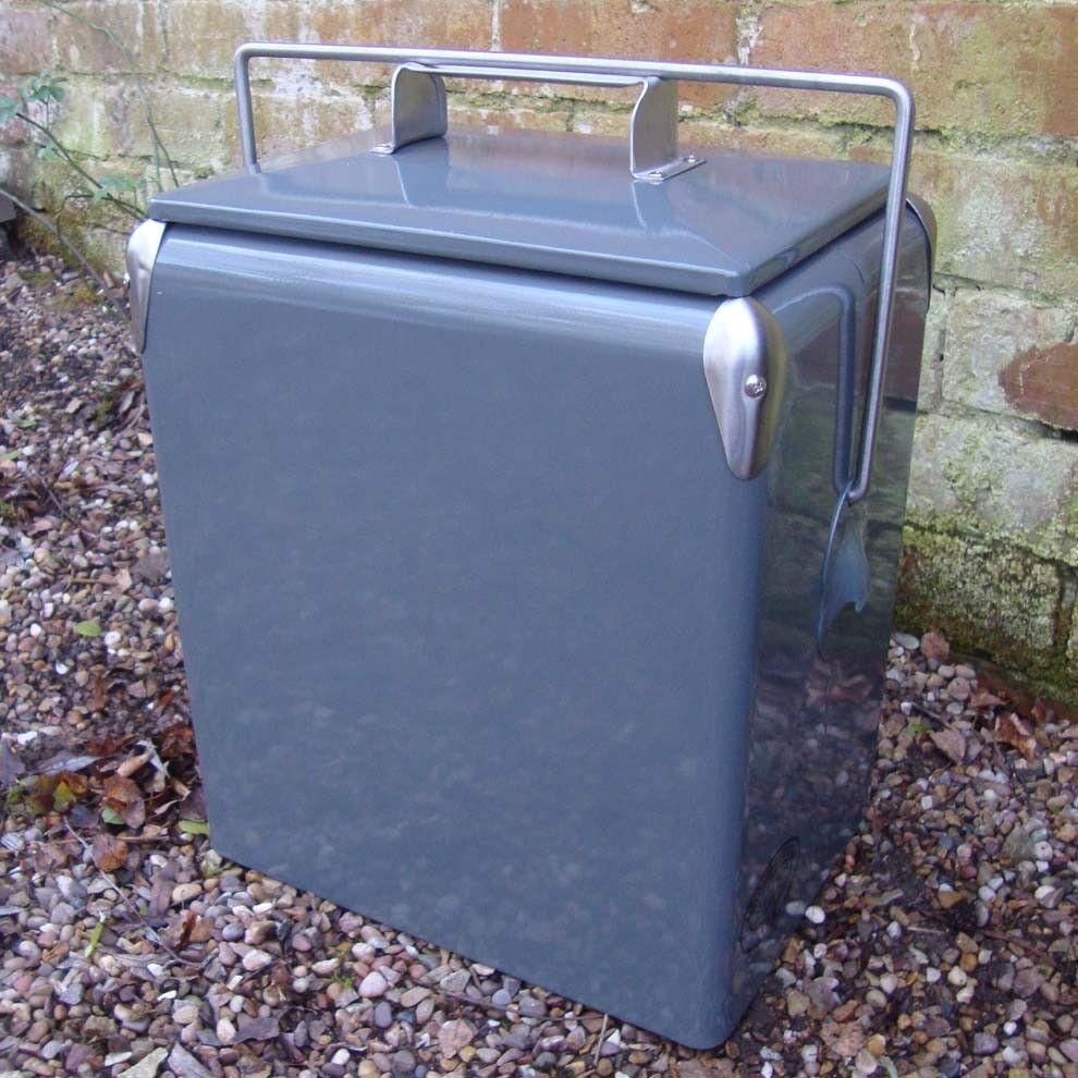 Vintage Coolbox PLAIN Cooler grau 17L Retro Cooler Coke Coolbox present cool box