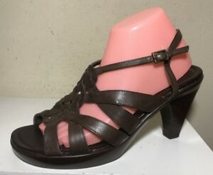 e8ee91422e6 A.N.A Women Shoes Size 10 Brown Leather Sandals Heels Pumps Strappy ...