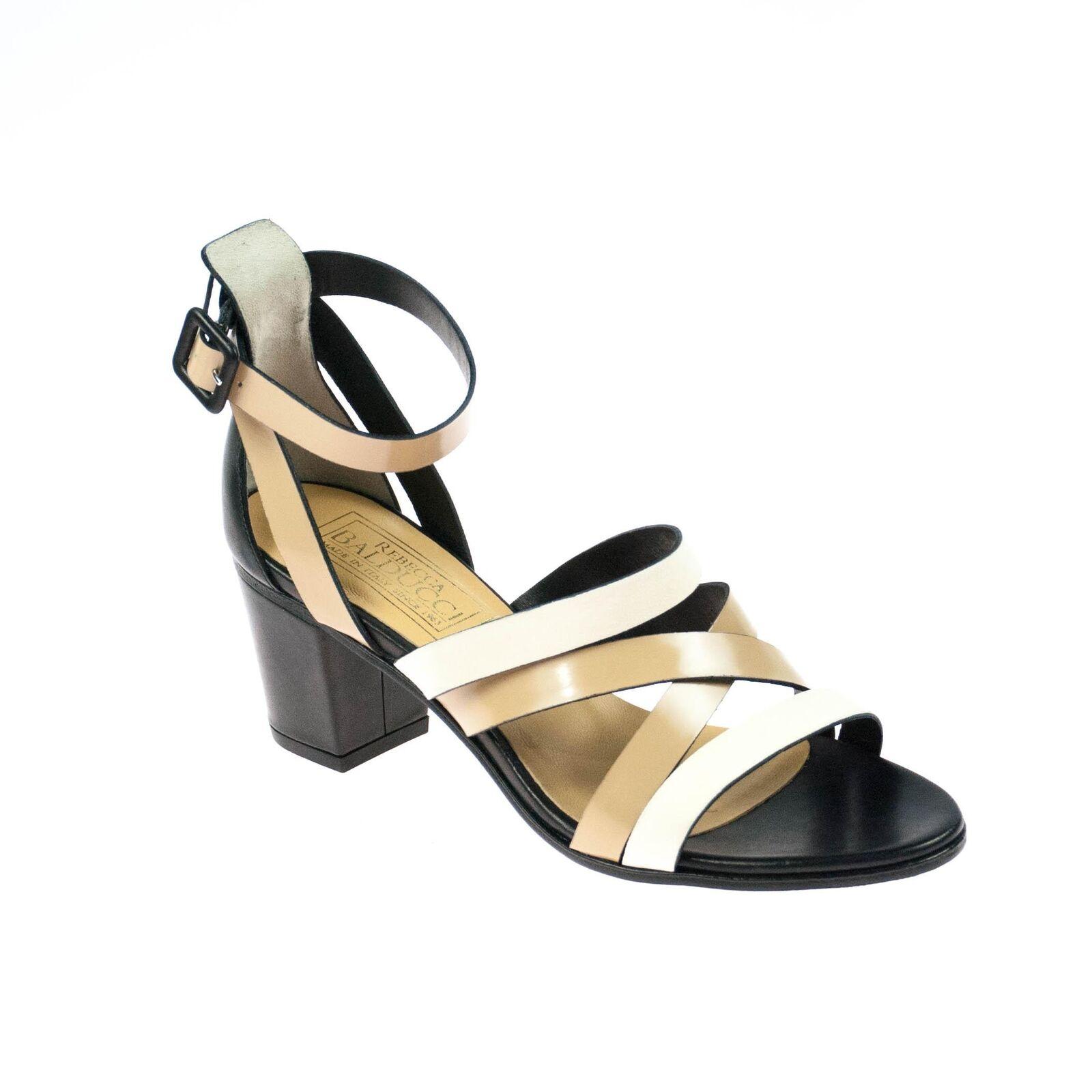 Rebecca Balducci Femmes Escarpins cuir noir beige blanc
