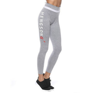 74f958cf8f443 Details about Fashion Women Yoga Pants Fitness Sports Trousers Stretch  Leggings Pants Grey Hot