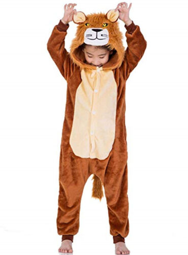 Adult Tiger Lion Deer Fox Animal Costume Pajamas One Piece for Adults and Teens