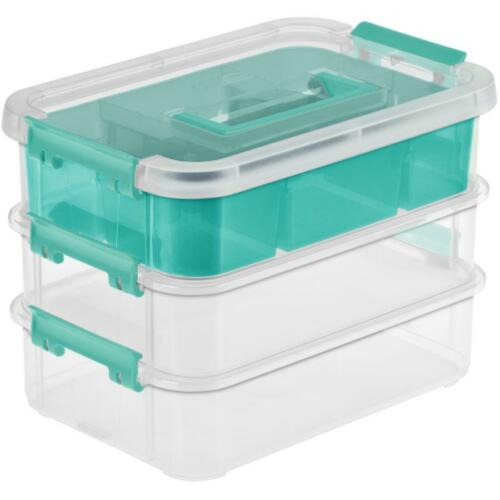 with Handle 3 Layer Stack and Carry Storage Box