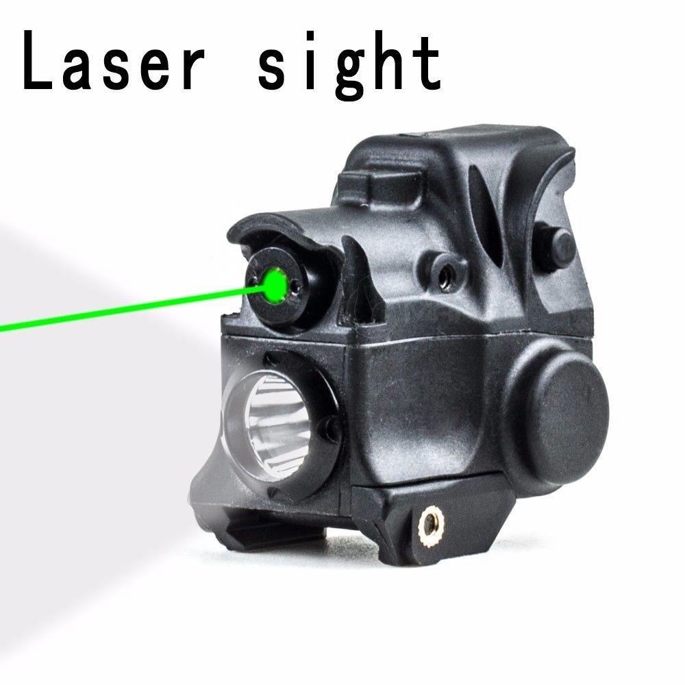 Hunting Tactical Optics Green Laser Sight Scope LED Flash Light Torch
