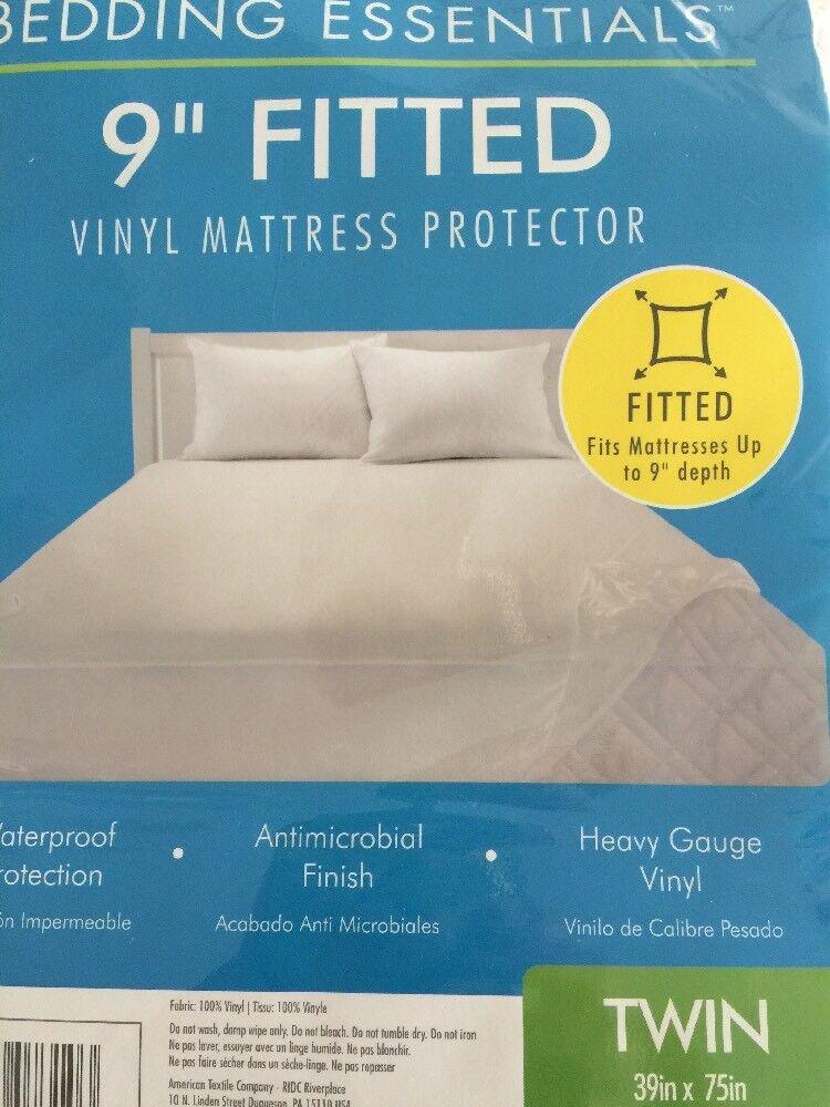 Bedding Essentials Vinyl Fitted Mattress Protector 9