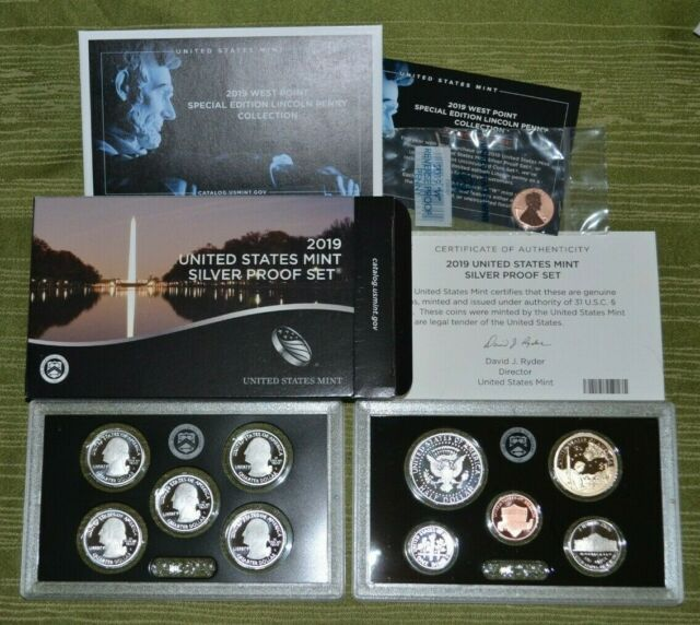 2009 S US Mint Lincoln Bicentennial Cent Penny Proof Set 4 Coins No Box or COA