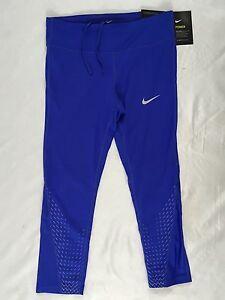 Pants Nike Size Women Power 883061 Dri Capri Fit 452 Blue Leggings HI4aIq
