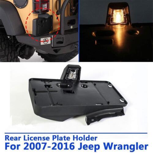 Black Rear License Plates Holder Frames Mounting Bracket For Jeep Wrangler JK 07