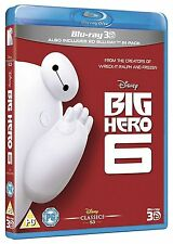 Big Hero 6 3D [Blu-ray 3D + Blu-ray, Disney Movie, Region Free, 2-Disc] NEW
