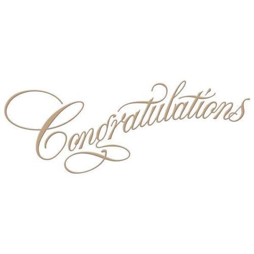 Spellbinders Glimmer hotfoil Placa en talla dulce script felicitaciones GLP-015