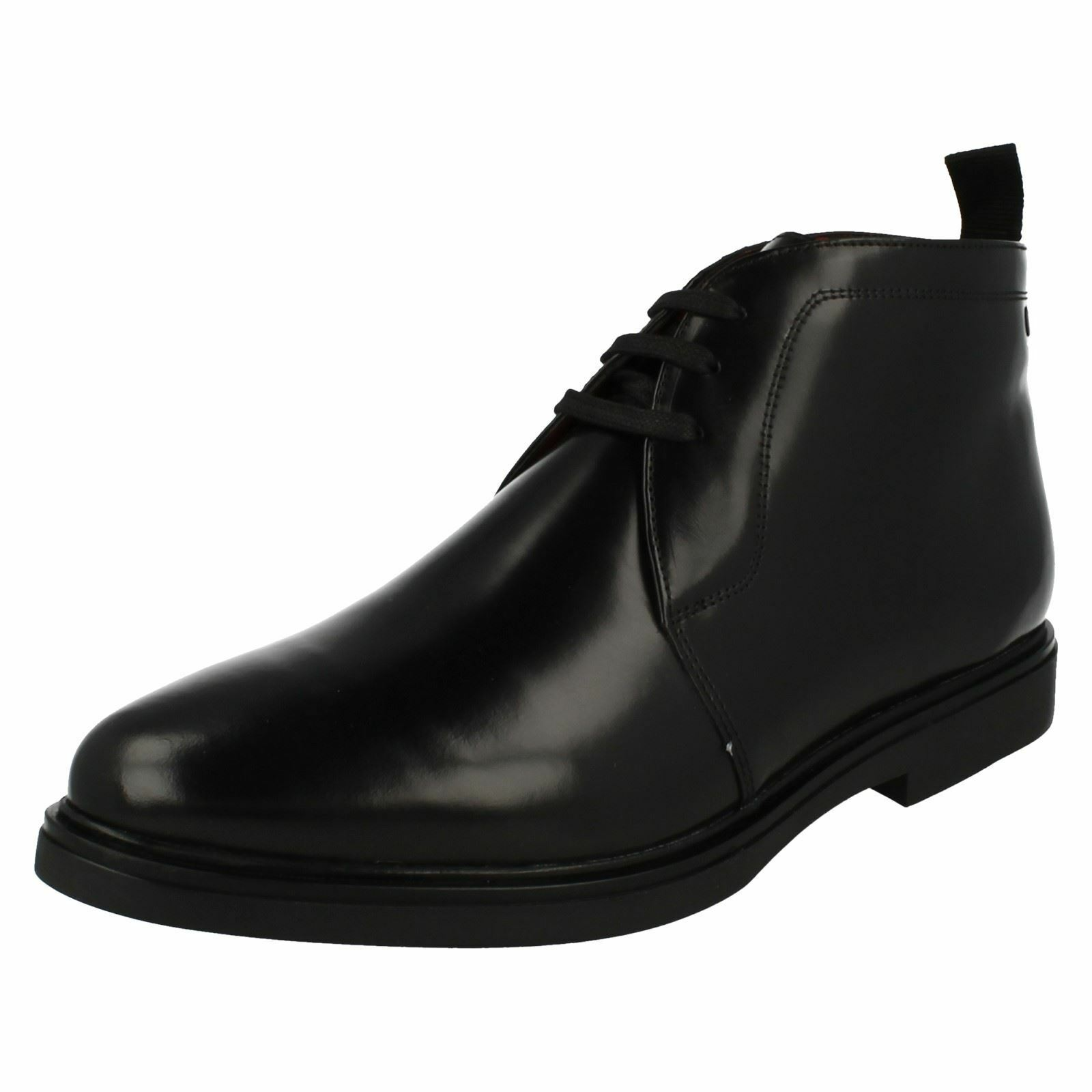 Mens Base London Smart Lace Up Ankle Boots Screw