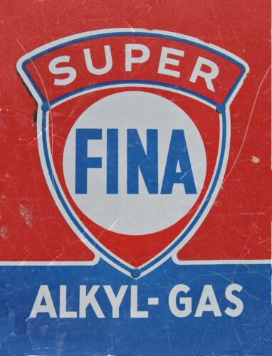 "TIN SIGN /""Super Fina Vintage/""   Gas-Oil   Signs  Rustic Wall Decor"