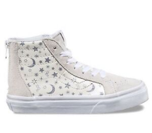 dcc65032f4 Vans Sk8-Hi Zip (Star Glitter) Girls Toddler  YouthSkate Shoe  Sizes ...