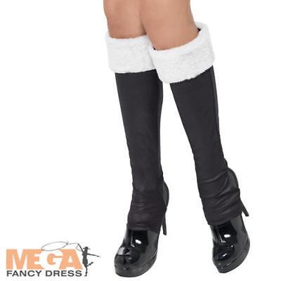 Di Larghe Vedute Miss Babbo Boot Nero Copre Donna Costume Natale Festivo Costume Acc-mostra Il Titolo Originale Tecnologie Sofisticate