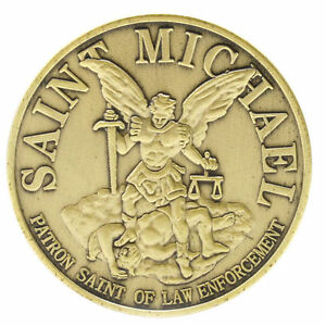 Erzengel Michael Engel Bronze Medaille Münze Selten Ebay