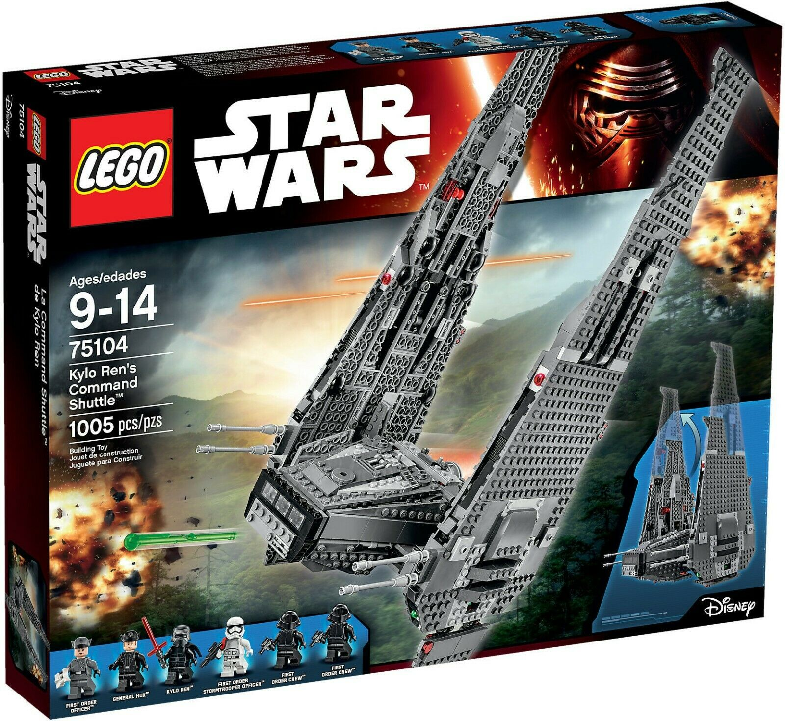 LEGO 75104 estrella guerras  Kylo Ren's Comuomod Shuttle  Nuovo Sigillato