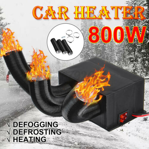 800W 12V//24V Car Truck Portable Auto Space Heater Heating Fan Defroster Demister