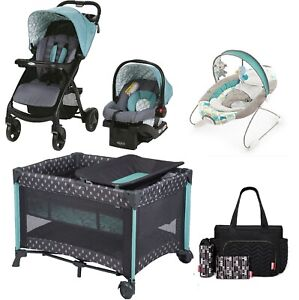Graco Baby Boy Combo Sets Baby Stroller With Car Seat Playard