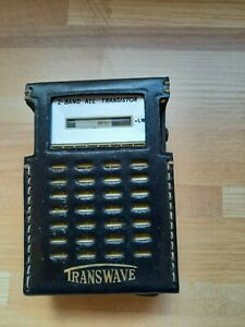 Vintage Transwave 2 Band All Transistor Radio Model HTR-720SL with Case